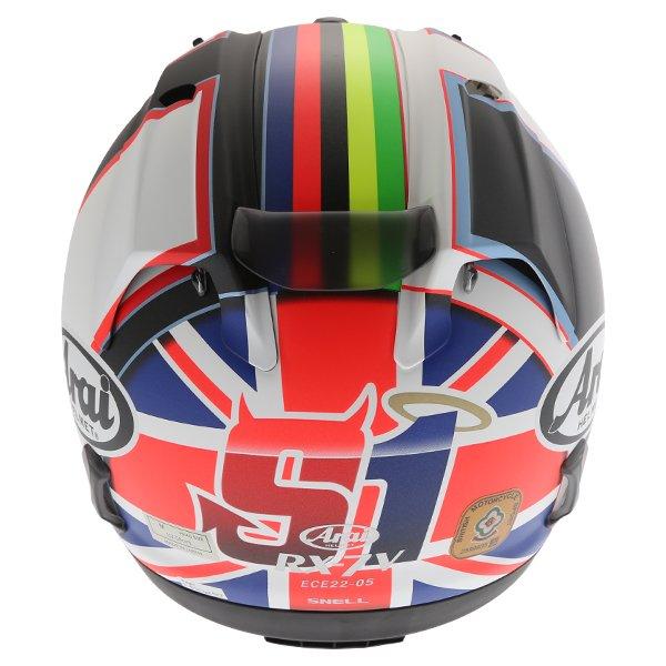 Arai RX-7V Haslam Black Full Face Motorcycle Helmet Back