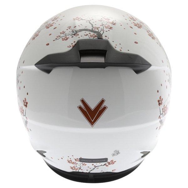 Frank Thomas FT36SV Cherry White Ladies Full Face Motorcycle Helmet Back
