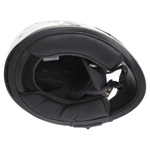 Frank Thomas FT36SV Cherry White Ladies Full Face Motorcycle Helmet Inside