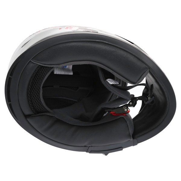 Frank Thomas FT36SV Cherry Silver Ladies Full Face Motorcycle Helmet Inside