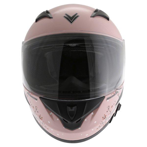 Frank Thomas FT36SV Cherry Pink Ladies Full Face Motorcycle Helmet Front