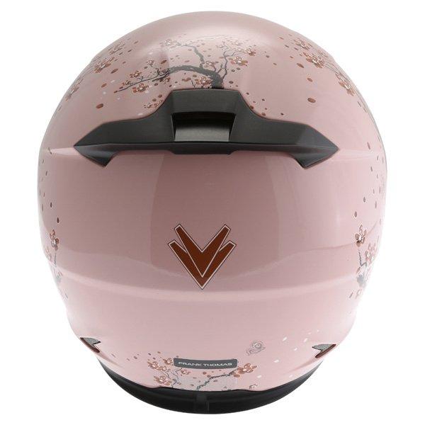 Frank Thomas FT36SV Cherry Pink Ladies Full Face Motorcycle Helmet Back