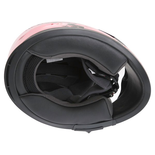 Frank Thomas FT36SV Cherry Pink Ladies Full Face Motorcycle Helmet Inside