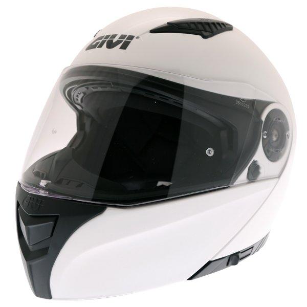 Givi X16 Modular White Flip Front Motorcycle Helmet Front Left