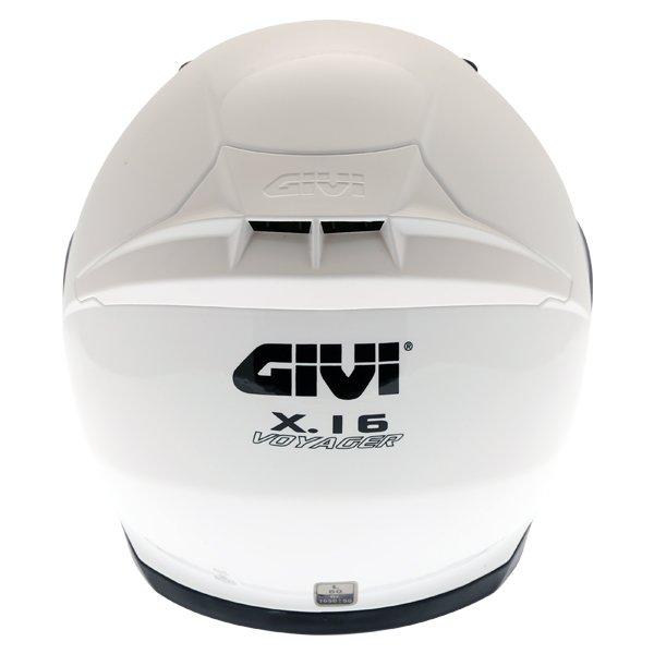Givi X16 Modular White Flip Front Motorcycle Helmet Back
