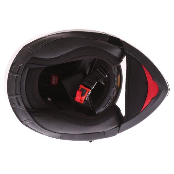 Givi X16 Modular White Flip Front Motorcycle Helmet Inside