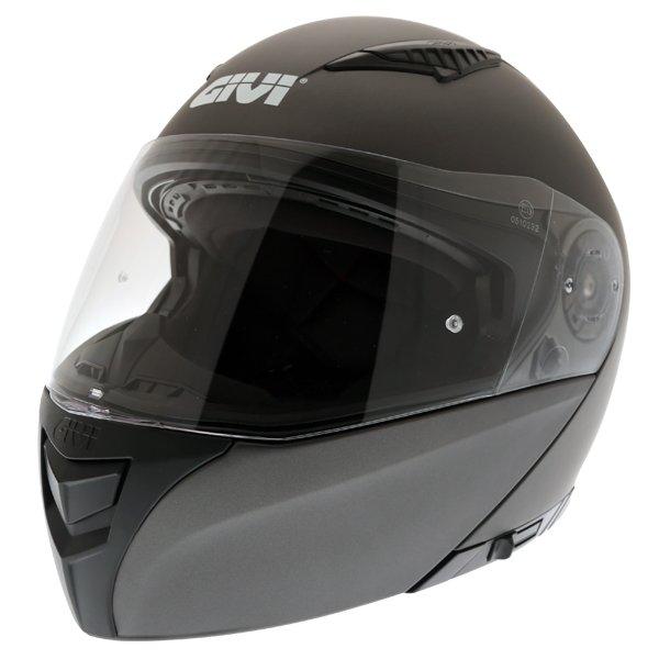 Givi X16 Modular Titanium Flip Front Motorcycle Helmet Front Left
