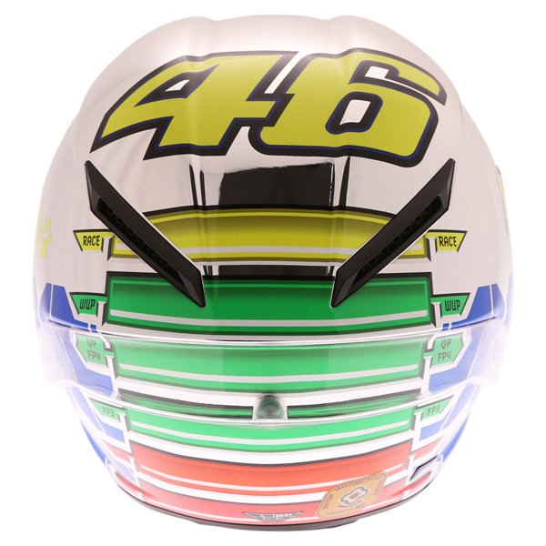 AGV Corsa Valentino Rossi Mugello 2015 Limited Edition Full Face Motorcycle Helmet Back