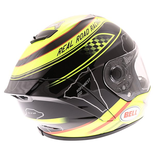 Bell Star IOM Full Face Motorcycle Helmet Back Right