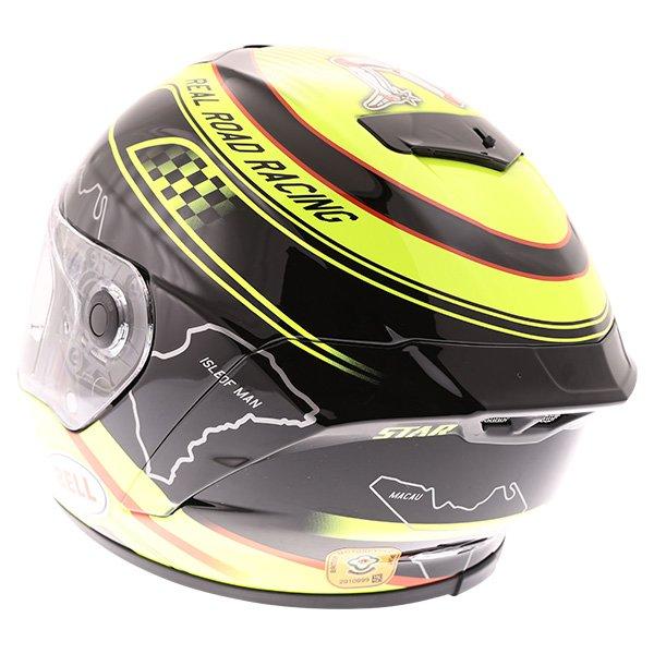 Bell Star IOM Full Face Motorcycle Helmet Back Left