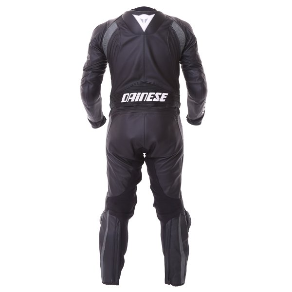 Dainese Avro D1 2pc Mens Black Anthracite Leather Motorcycle Suit Back