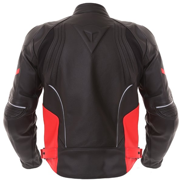 Dainese Racing D1 Black Red Leather Motorcycle Jacket Back