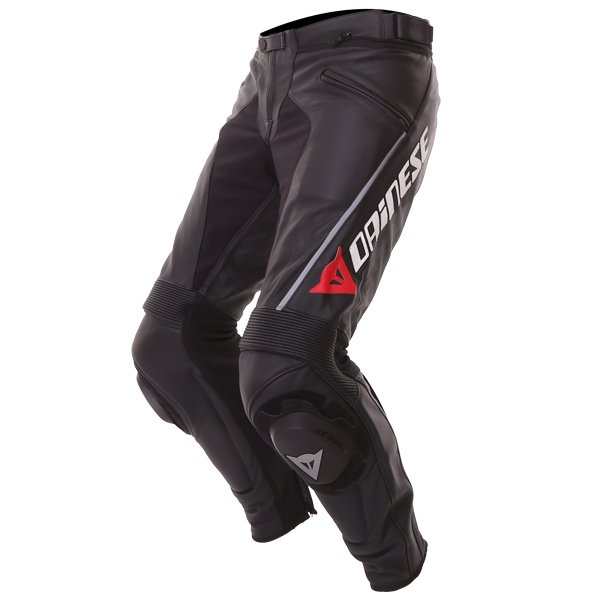 Dainese Delta Pro C2 Black Leather Motorcycle Pants Riding crouch