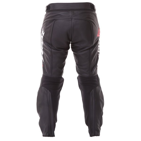 Dainese Delta Pro C2 Black Leather Motorcycle Pants Rear