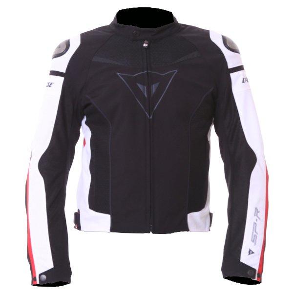 Super Speed Tex Jacket Black White Red Dainese