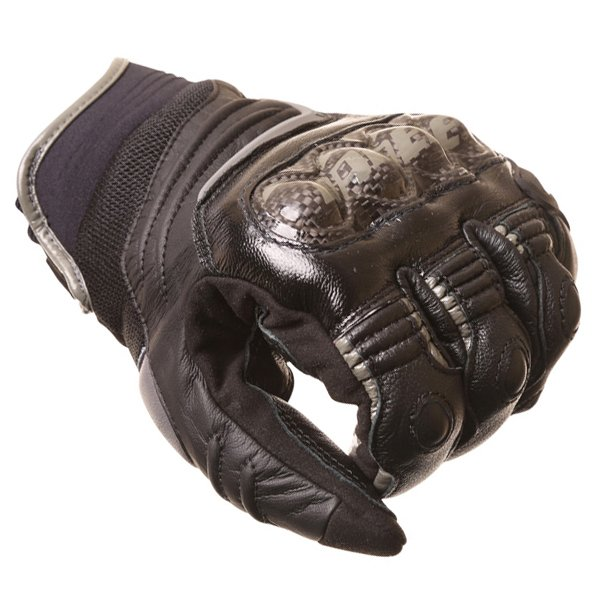Dainese Carbon D1 Short Black Motorcycle Gloves Knuckle