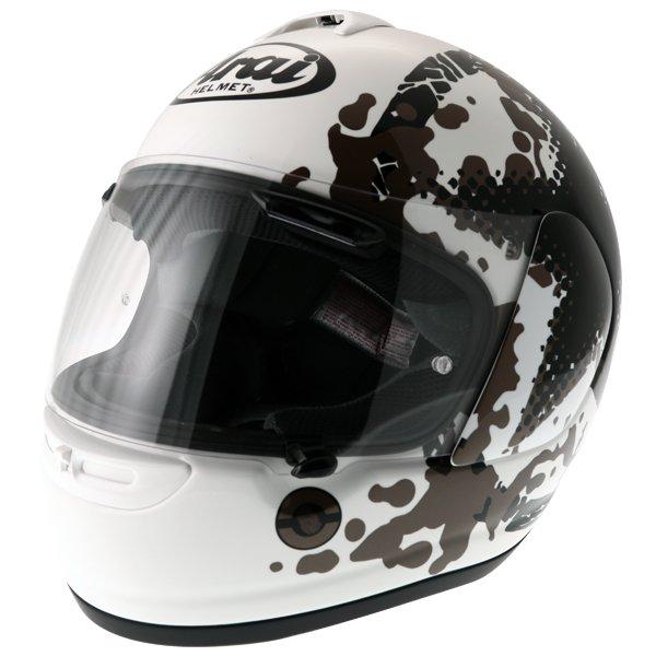 Arai Axces II Comet White Full Face Motorcycle Helmet Front Left
