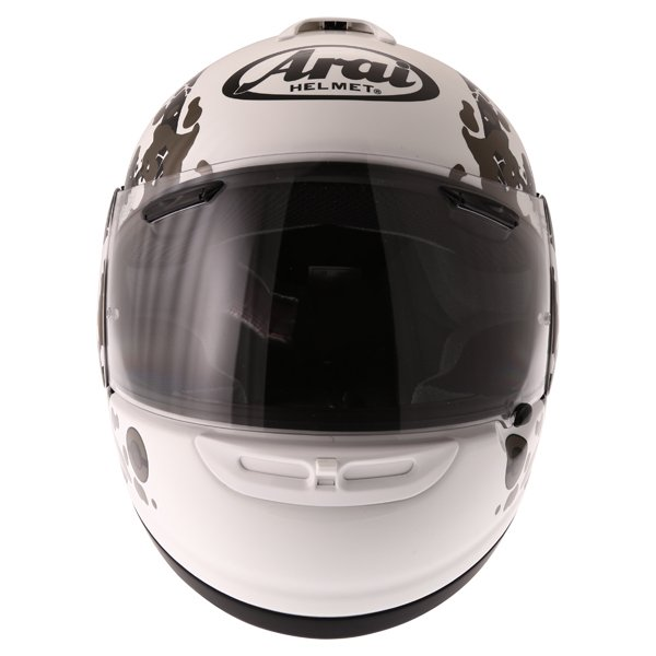 Arai Axces II Comet White Full Face Motorcycle Helmet Front