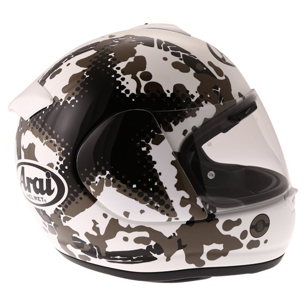Arai Axces II Comet White Full Face Motorcycle Helmet Right Side