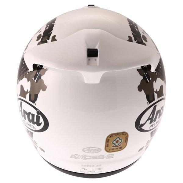 Arai Axces II Comet White Full Face Motorcycle Helmet Back