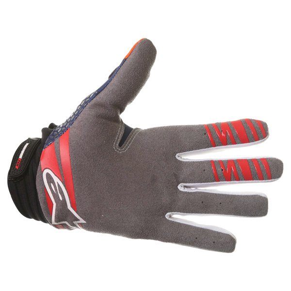 Alpinestars Techstar Venom Orange White Navy Motocross Gloves Palm