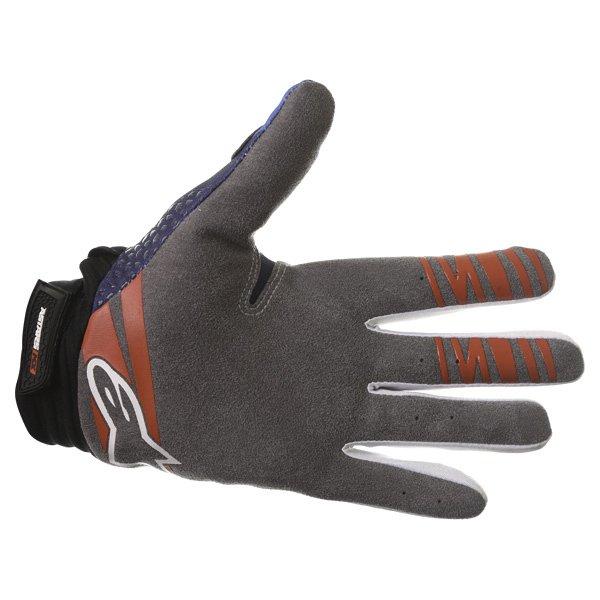 Alpinestars Techstar Venom Blue White Navy Motocross Gloves Palm