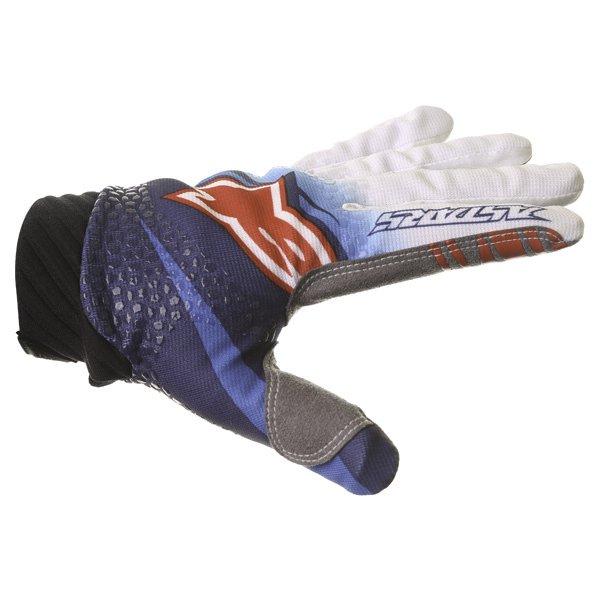 Alpinestars Techstar Venom Blue White Navy Motocross Gloves Thumb side