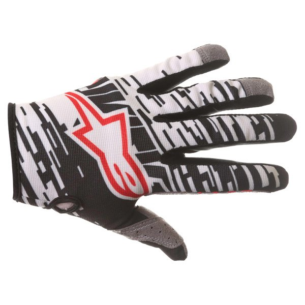 Alpinestars Racer Braap Black White Motocross Gloves Back