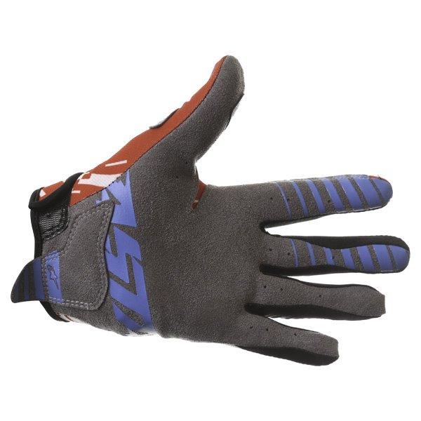 Alpinestars Racer Braap Red White Blue Motocross Gloves Palm
