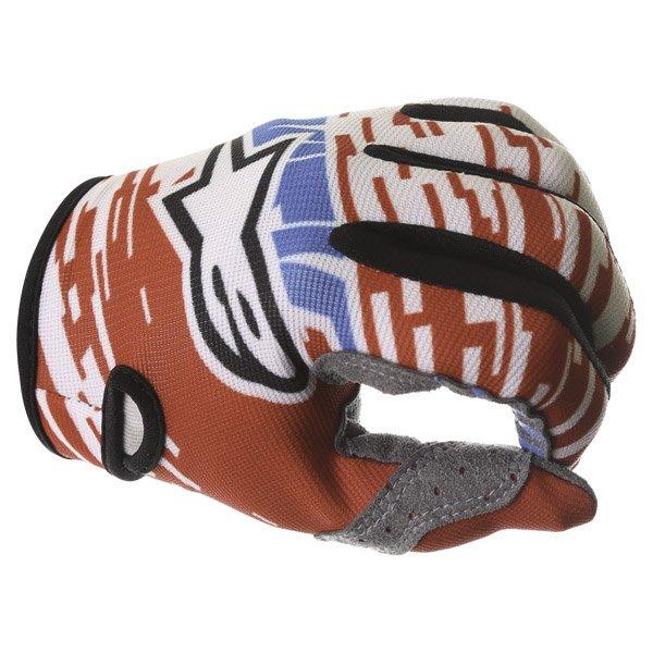 Alpinestars Racer Braap Red White Blue Motocross Gloves Knuckle
