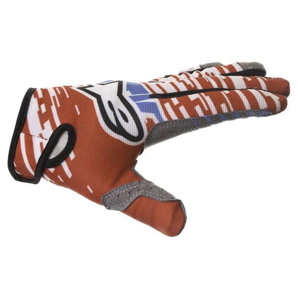 Alpinestars Racer Braap Red White Blue Motocross Gloves Thumb side