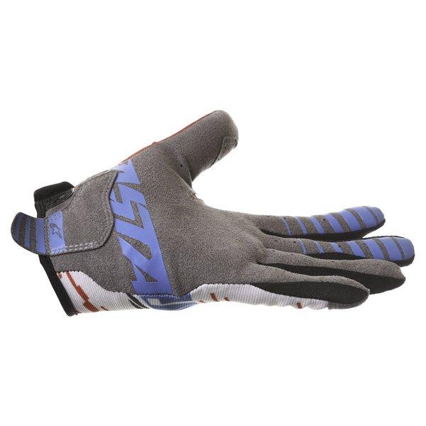 Alpinestars Racer Braap Red White Blue Motocross Gloves Little finger side