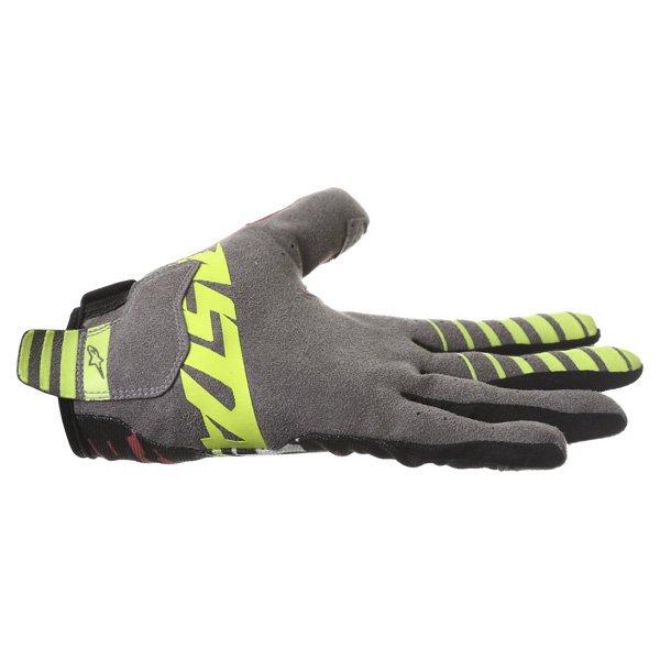 Alpinestars Racer Braap Pink Black Yellow Motocross Gloves Little finger side