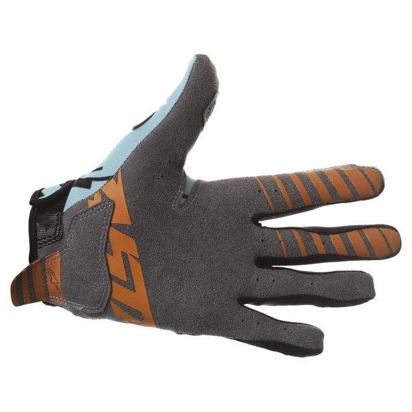 Alpinestars Racer Braap Turquoise Black Motocross Gloves Palm
