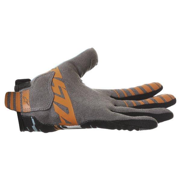 Alpinestars Racer Braap Turquoise Black Motocross Gloves Little finger side