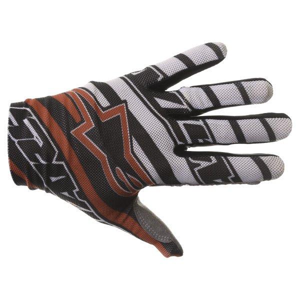 Alpinestars Dune Black White Red Motocross Gloves Back