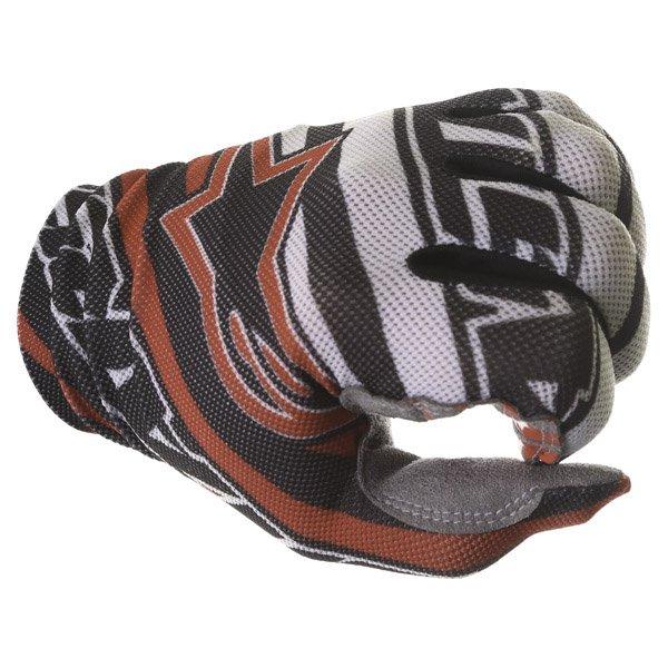 Alpinestars Dune Black White Red Motocross Gloves Knuckle