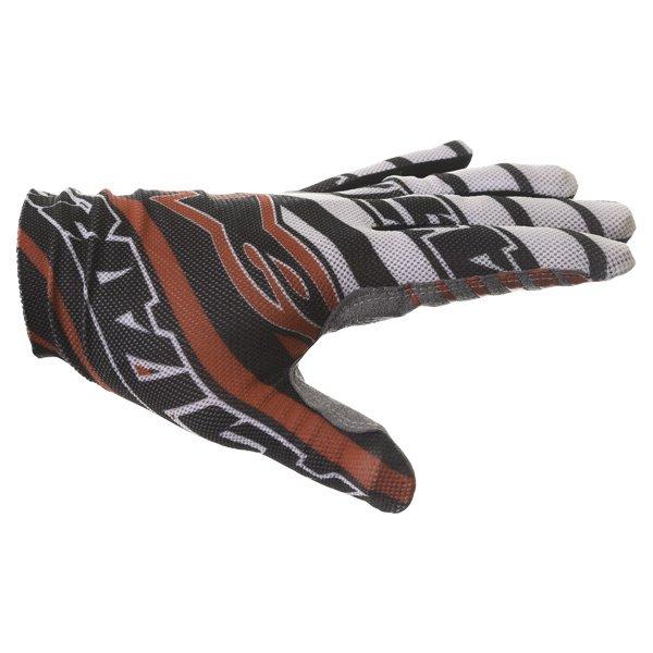 Alpinestars Dune Black White Red Motocross Gloves Thumb side