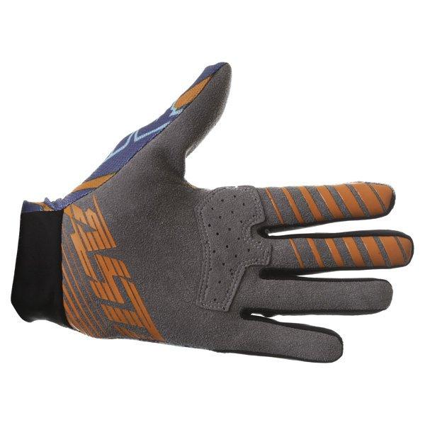 Alpinestars Dune Navy Turq Orange Motocross Gloves Palm