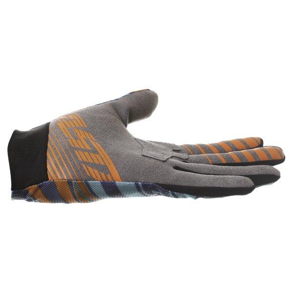 Alpinestars Dune Navy Turq Orange Motocross Gloves Little finger side