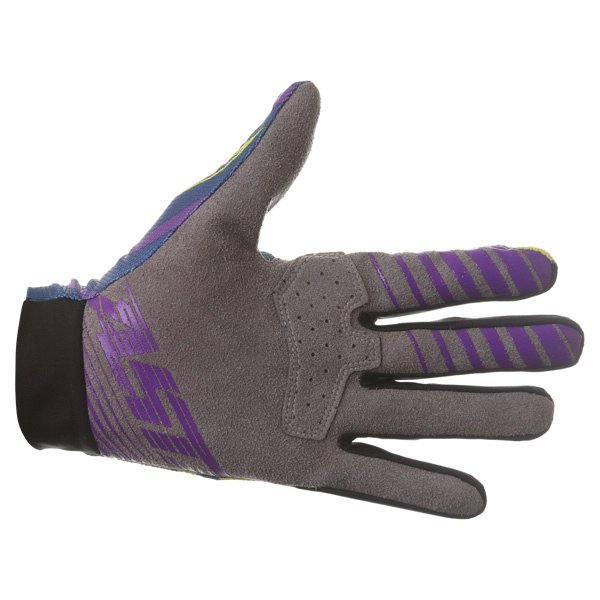 Alpinestars Dune Navy Lime Purple Motocross Gloves Palm