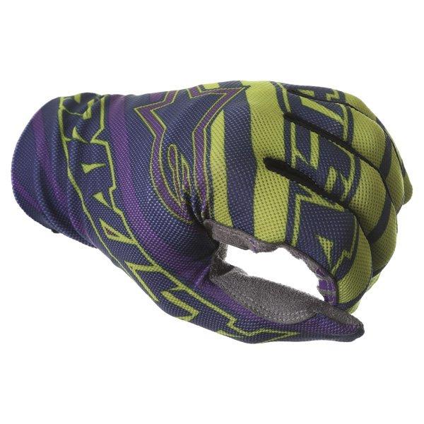 Alpinestars Dune Navy Lime Purple Motocross Gloves Knuckle