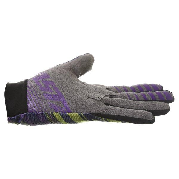 Alpinestars Dune Navy Lime Purple Motocross Gloves Little finger side