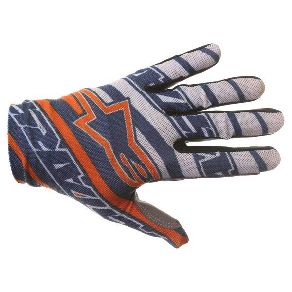 Alpinestars Dune Navy White Orange Motocross Gloves Back