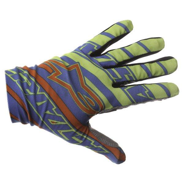 Alpinestars Dune Blue Yellow Red Gloves Back