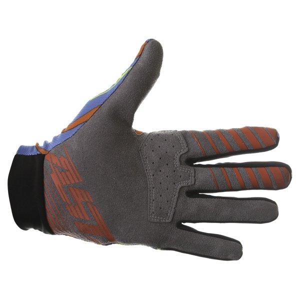 Alpinestars Dune Blue Yellow Red Gloves Palm