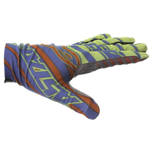Alpinestars Dune Blue Yellow Red Gloves Thumb side