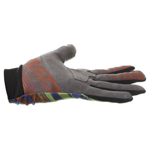 Alpinestars Dune Blue Yellow Red Gloves Little finger side