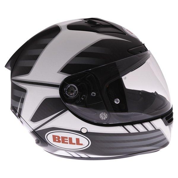 Bell Star Carbon Pinned Black Full Face Motorcycle Helmet Right Side