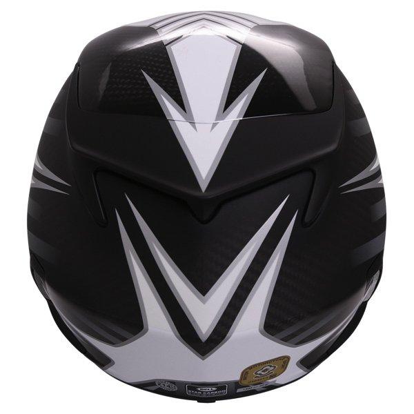 Bell Star Carbon Pinned Black Full Face Motorcycle Helmet Back